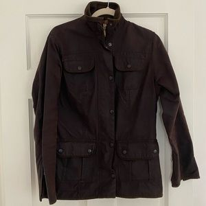 Barbour Wax Utility Jacket, Brown, Size 8